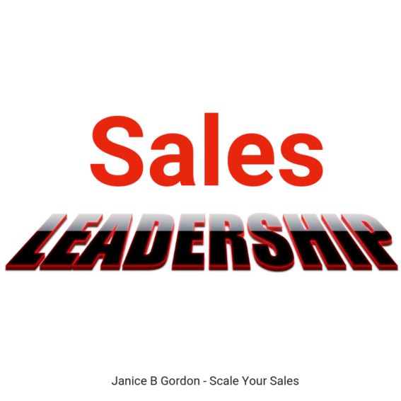 Janice B Gordon Modern Sales Leadership