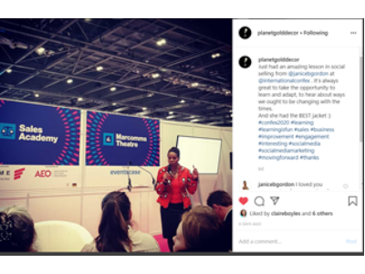 from Instagram planetgolddecor my presentation at Confex